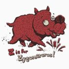 Z is for Zygomaturus! - megafauna t-shirt by Richard Morden
