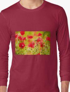 Art of Poppy by David Tovey Long Sleeve T-Shirt