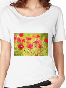Art of Poppy by David Tovey Women's Relaxed Fit T-Shirt