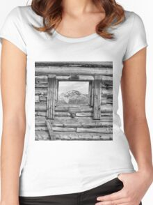 Picture Window 2 Women's Fitted Scoop T-Shirt