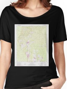 USGS TOPO Map Arkansas AR Holly Springs 258744 1973 24000 Women's Relaxed Fit T-Shirt