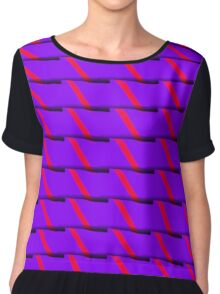 Purple Slices Chiffon Top