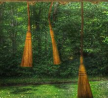 Handmade Brooms by Anthony M. Davis