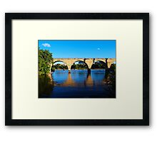 Stone Arch Reflections Framed Print