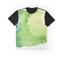 Watercolor Map of Washington, USA in Green - Giclee Print My Own Watercolor Painting Graphic T-Shirt