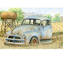 Rusty Blue Chevy Photographic Print