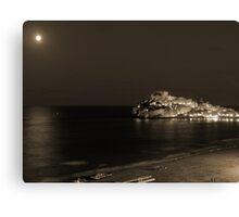 Coastal night Canvas Print