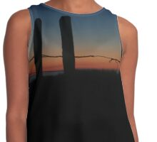 Barbed Wire Sunset  Contrast Tank