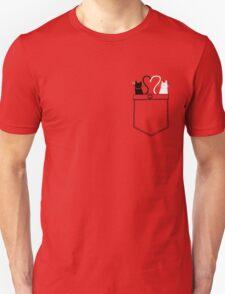 poCATS Love - Red Unisex T-Shirt