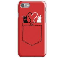 poCATS Love - Red iPhone Case/Skin