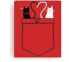 poCATS Love - Red Canvas Print