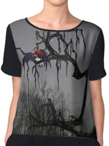 Winged Elf In a Tree Chiffon Top