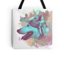Wolf and leaves Tote Bag
