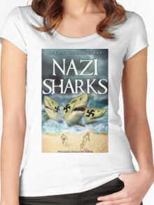 Nazi Sharks Women's Fitted Scoop T-Shirt