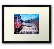 Dell Mills Falls Framed Print