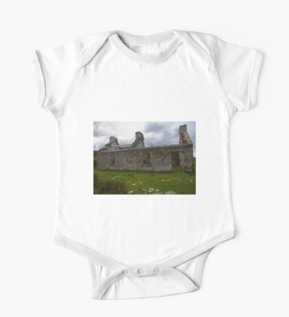 Ruined Cottage at Cashelnagor, County Donegal, Ireland One Piece - Short Sleeve