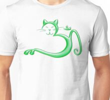 Om Kitty - Liquid Green Unisex T-Shirt