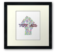 Tuff Girl Peace Sign Graphic Framed Print