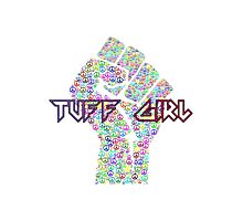 Tuff Girl Peace Sign Graphic Photographic Print