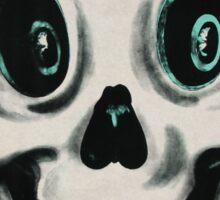Retro Halloween Skull Sticker