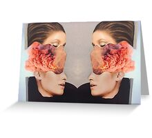 2 Faced. Explosion. Collage ® Greeting Card