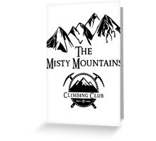 Misty Mountains Climbing Club, LOTR Parody  Greeting Card
