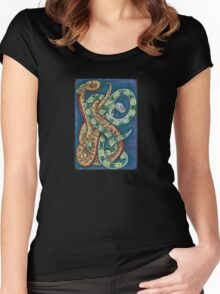 Snakey Eight Women's Fitted Scoop T-Shirt