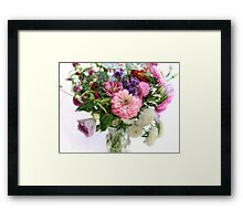 Septemer Bouquet Framed Print