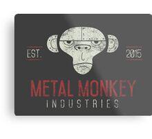 Metal Monkey Industries Logo  Metal Print