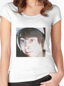Leafy #nochin Women's Fitted Scoop T-Shirt