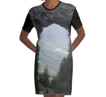 Arch Rock View Graphic T-Shirt Dress