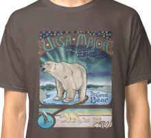 Polar Bear Ursa Major Constellation with Northern Lights Classic T-Shirt