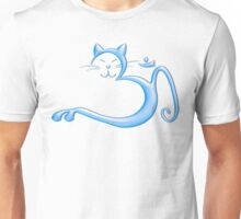 Om Kitty - Liquid Blue Unisex T-Shirt
