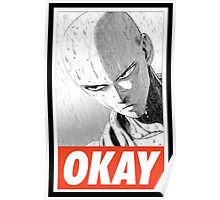 one_puch_man_okay_rain Poster