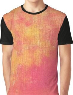 Grunge Pink, Yellow, Orange and Red Distressed Abstract Graphic T-Shirt