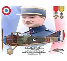 Colonel René Fonck Photographic Print