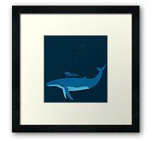 Whale blue Framed Print
