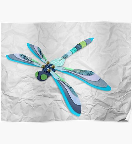 Paper Dragonfly Poster