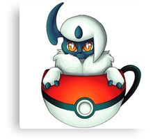 Absol PokeCup Canvas Print