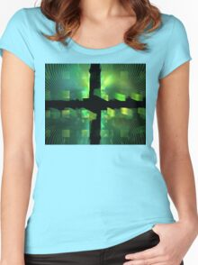 Lime Cubes Women's Fitted Scoop T-Shirt