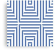 Seersucker Style Blue and White Nautical Stripes Canvas Print