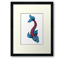 Blue Koi Framed Print