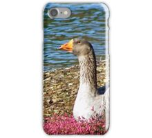 Goose relaxing in the flowers iPhone Case/Skin
