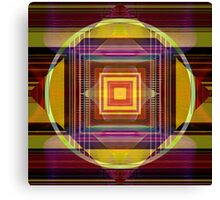 Concentric Geometry Canvas Print
