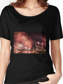 Fireworks in Brisbane City Women's Relaxed Fit T-Shirt