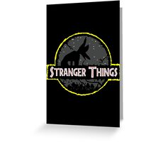 stranger things forest Greeting Card