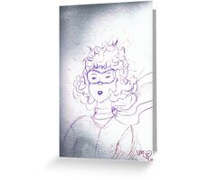 Determination of young Amelia Earhart  Greeting Card