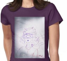 Determination of young Amelia Earhart  Womens Fitted T-Shirt