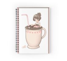 Chibi Cute Hot Chocolate Girl  Spiral Notebook