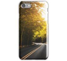 autumn road iPhone Case/Skin